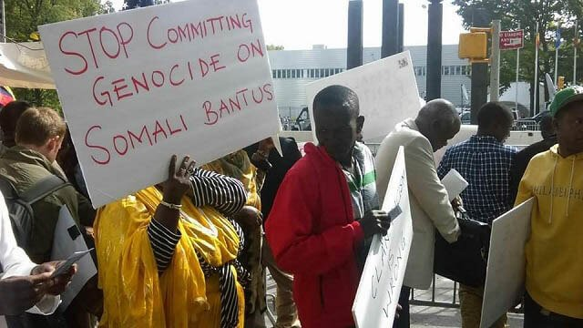 Somali Bantu protesters